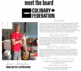 Meet the Board - Young Chef Rep, Eastern Region