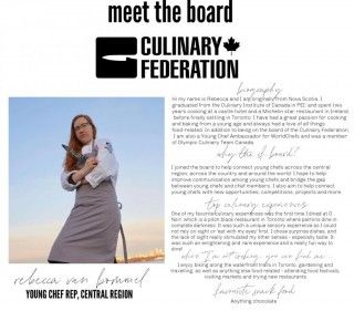 Meet the Board - Young Chef Rep, Central Region